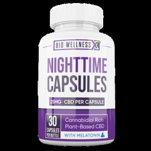 Nighttime CBD Capsules - Biowellnessx