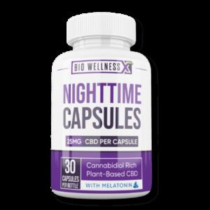 Nighttime Capsules with CBD and Melatonin