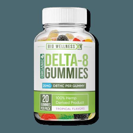 delta 8 gummies - 25mg per gummy