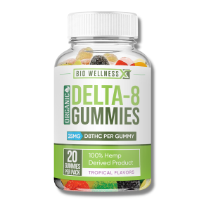 organic delta 8 gummies - mixed berries 25mg thc